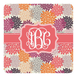 Mums Flower Square Decal - Custom Size (Personalized)