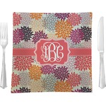 Mums Flower Square Dinner Plate (Personalized)