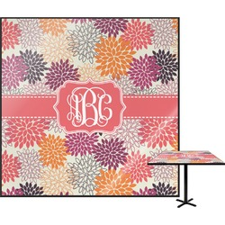 "Mums Flower Square Table Top - 30"" (Personalized)"