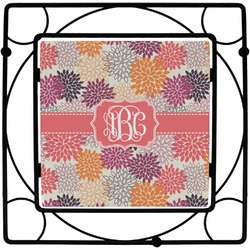Mums Flower Square Trivet (Personalized)