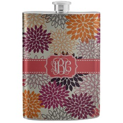 Mums Flower Stainless Steel Flask (Personalized)
