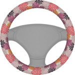 Mums Flower Steering Wheel Cover (Personalized)