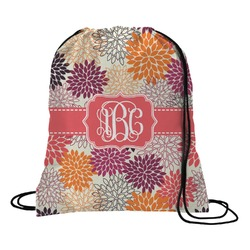 Mums Flower Drawstring Backpack (Personalized)