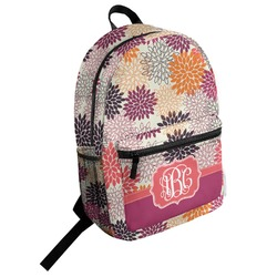 Mums Flower Student Backpack (Personalized)