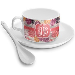 Mums Flower Tea Cup - Single (Personalized)