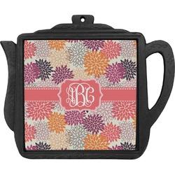 Mums Flower Teapot Trivet (Personalized)