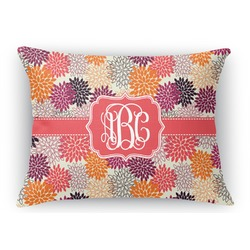 Mums Flower Rectangular Throw Pillow Case (Personalized)