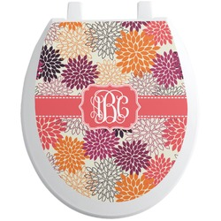 Mums Flower Toilet Seat Decal (Personalized)