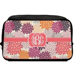 Mums Flower Toiletry Bag / Dopp Kit (Personalized)