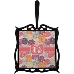 Mums Flower Trivet with Handle (Personalized)