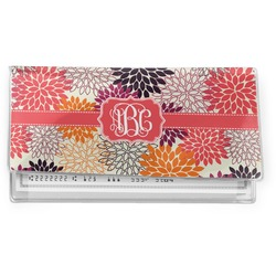 Mums Flower Vinyl Checkbook Cover (Personalized)