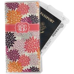 Mums Flower Travel Document Holder