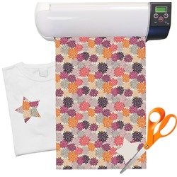"Mums Flower Heat Transfer Vinyl Sheet (12""x18"")"