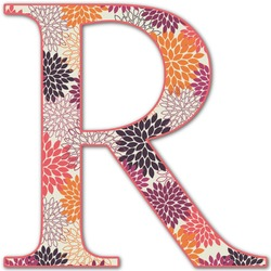 Mums Flower Letter Decal - Custom Sized (Personalized)
