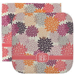Mums Flower Facecloth / Wash Cloth (Personalized)
