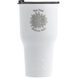 Mums Flower RTIC Tumbler - White (Personalized)