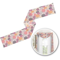 Mums Flower Window Sheer Scarf Valance (Personalized)