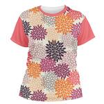 Mums Flower Women's Crew T-Shirt (Personalized)