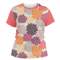 Mums Flower Women's Crew T-Shirt (Personalized)
