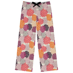 Mums Flower Womens Pajama Pants (Personalized)