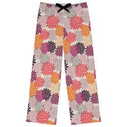 Mums Flower Womens Pajama Pants - XL (Personalized)