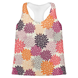 Mums Flower Womens Racerback Tank Top (Personalized)