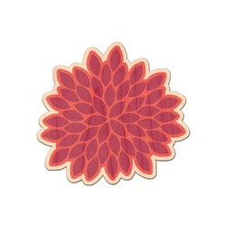 Mums Flower Genuine Maple or Cherry Wood Sticker (Personalized)