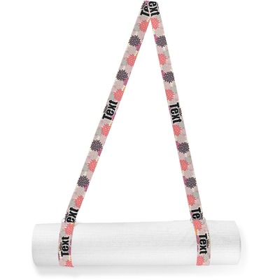 Mums Flower Yoga Mat Strap (Personalized)