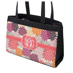 Mums Flower Zippered Everyday Tote (Personalized)