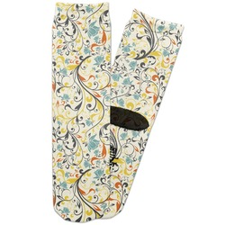 Swirly Floral Adult Crew Socks (Personalized)