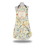 Swirly Floral Apron (Personalized)