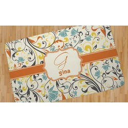Swirly Floral Area Rug (Personalized)