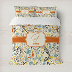 Swirly Floral Duvet Cover (Personalized)