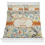 Swirly Floral Comforter Set (Personalized)