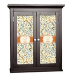 Swirly Floral Cabinet Decal - Custom Size (Personalized)