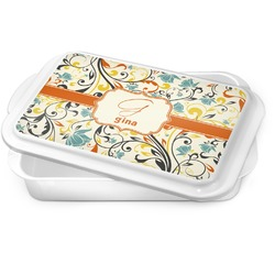Swirly Floral Cake Pan (Personalized)