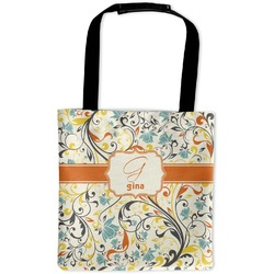 Swirly Floral Auto Back Seat Organizer Bag (Personalized)