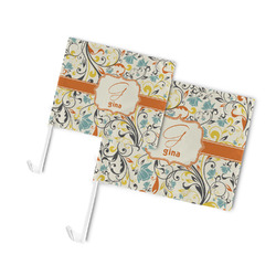 Swirly Floral Car Flag (Personalized)