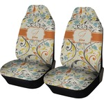 Swirly Floral Car Seat Covers (Set of Two) (Personalized)