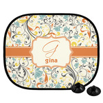 Swirly Floral Car Side Window Sun Shade (Personalized)