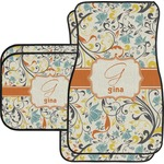 Swirly Floral Car Floor Mats (Personalized)