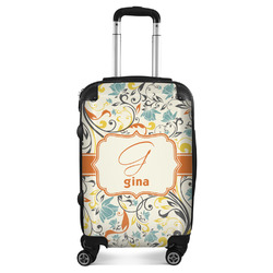 Swirly Floral Suitcase (Personalized)