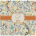 Swirly Floral Ceramic Tile Hot Pad (Personalized)