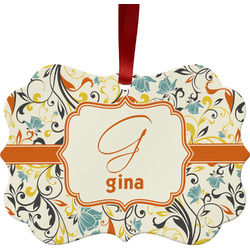 Swirly Floral Ornament (Personalized)