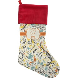 Swirly Floral Christmas Stocking (Personalized)
