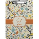 Swirly Floral Clipboard (Personalized)