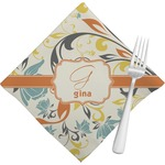 Swirly Floral Napkins (Set of 4) (Personalized)