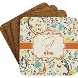 Swirly Floral Coaster Set (Personalized)