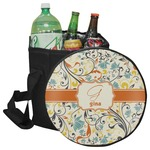 Swirly Floral Collapsible Cooler & Seat (Personalized)