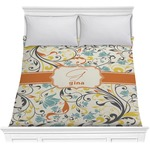 Swirly Floral Comforter (Personalized)